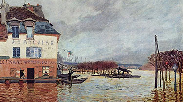 L'Inondation à Port-Marly von Alfred Sisley